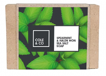 Sebon Cole & Co Soap - Sber-fint a Halen y Môr | Spearmint & Anglesey Sea Salt